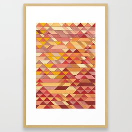 Triangle Pattern no.4 Warm Colors Red and Yellow Framed Art Print