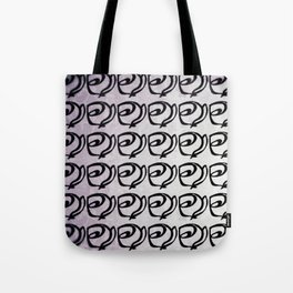 Rows of Flowers, Purple Tote Bag