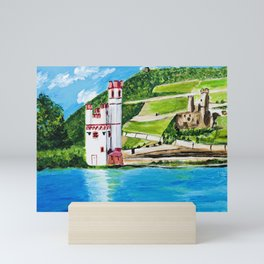 Mouse Tower Bingen Mini Art Print