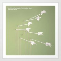 modest mouse Art Prints featuring Modest Mouse - Good News For People Who Love Bad News by NICEALB