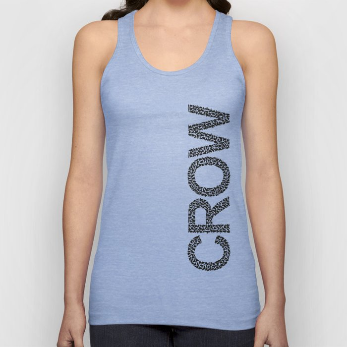 word crow from a Ffock of crows Unisex Tank Top