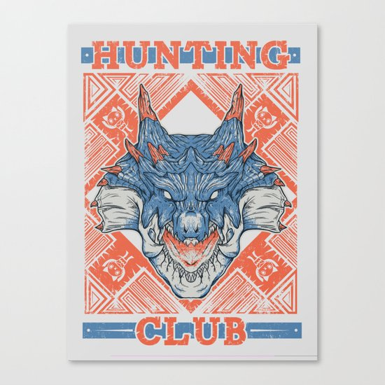 Hunting Club: Lagiacrus Canvas Print