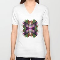 geo V-neck T-shirts featuring Geo by Patrick Cazer