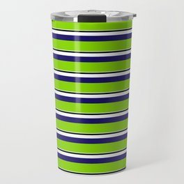 Green Stripes of Spring Travel Mug