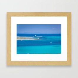 beautiful blue Framed Art Print