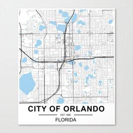 City of Orlando, Florida Canvas Print