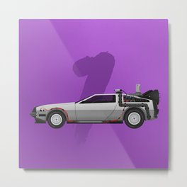 Back to the Future DeLorean 1 - alt Metal Print