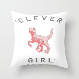 Clever Girl Throw Pillow