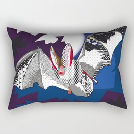 bat pattern Rectangular Pillow