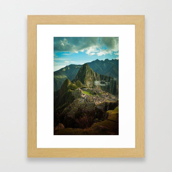 Machu Picchu (color) Framed Art Print