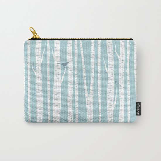 Birch Trees with Bird Carry-All Pouch