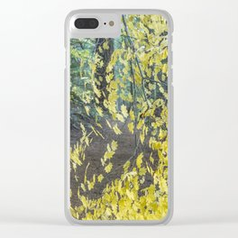 A Splay of Fall Leaves on a Forest Trail Clear iPhone Case