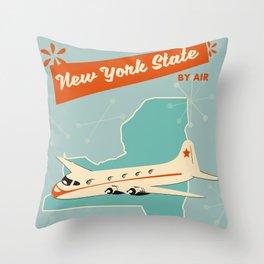 New York State vintage travel poster Throw Pillow