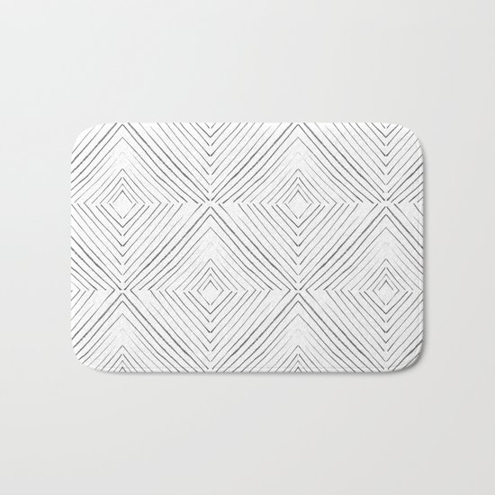 Black Lines Bath Mat