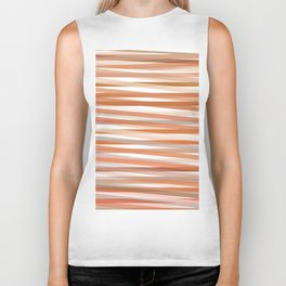 Fall Orange brown Neutral stripes Minimalist Biker Tank