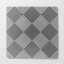 Grey Rhombus Metal Print
