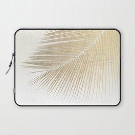 Palm leaf synchronicity - gold Laptop Sleeve