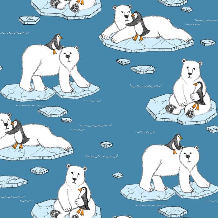 Polar Bear Loves Penguin Leggings