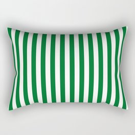 Team Colors 4... green , white Rectangular Pillow