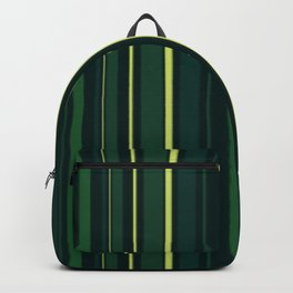 Yellow and Shades of Green Stripes Backpack