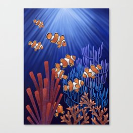 Clown Fish tank Canvas Print