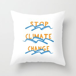 Stop Climate Change - Save the Earth Art Print Throw Pillow