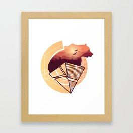 Bear Design Framed Art Print