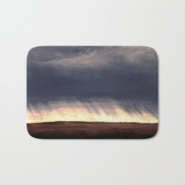 Storm Over Saskatchewan Fields Bath Mat