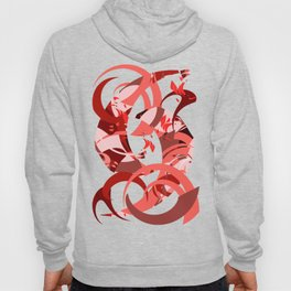 Abstract Curls - Burgundy, Coral, Pink Hoody