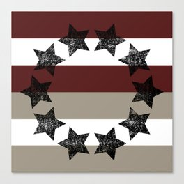 Country Americana Stars and Stripes  Canvas Print