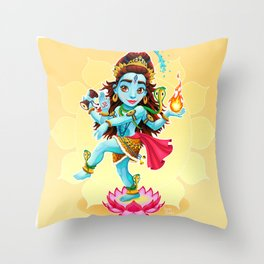 Dance of Shiva Throw Pillow