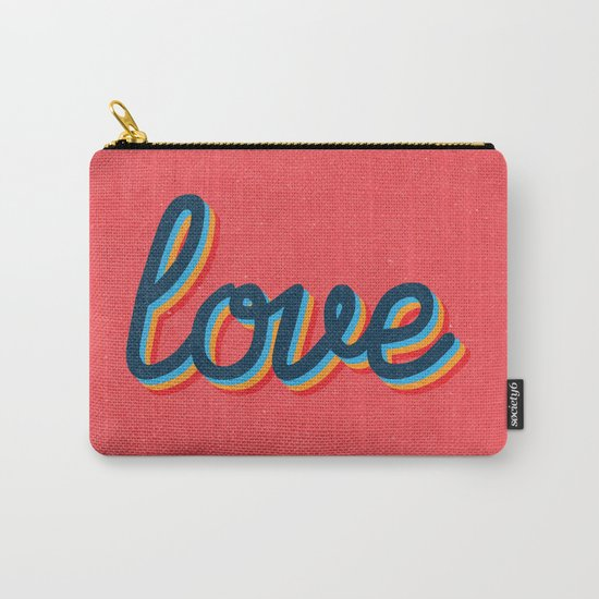 Love - pink version Carry-All Pouch