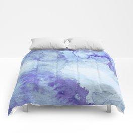 Blue Watercolor Background Comforters