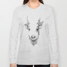 Spotted Deer - Can You See How Much Is Left? Long Sleeve T-shirt