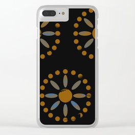 African Bead Work in Black by Lorloves Design Clear iPhone Case