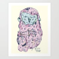 friday Art Prints featuring friday by adria cuernolobo