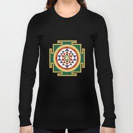 Sri Yantra colored Long Sleeve T-shirt