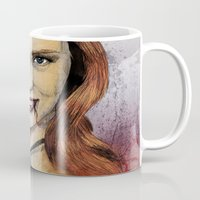 true blood Mugs featuring Oh My Jessica - True Blood by Fresh Doodle - JP Valderrama