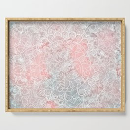 Bright Pink Mandala Design Serving Tray