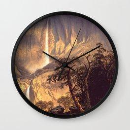 Cho Looke The Yosemite Fall 1864 By Albert Bierstadt   Reproduction Painting Wall Clock