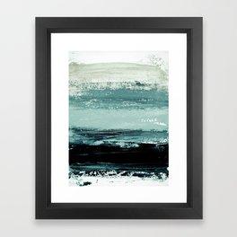 abstract minimalist landscape 4 Framed Art Print