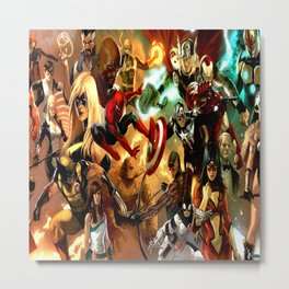 collection of superheroes Metal Print