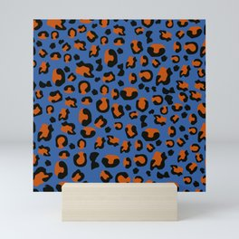 Jungle - Leopard Pattern Blue Mini Art Print