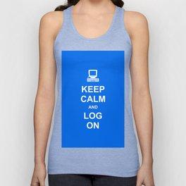 Keep Calm and Log On Unisex Tank Top