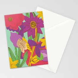 Summer floral pattern Stationery Cards