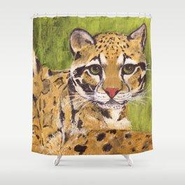 Clouded Leopard Shower Curtain