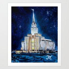 Oquirrh Mountain Utah LDS Temple Art Print