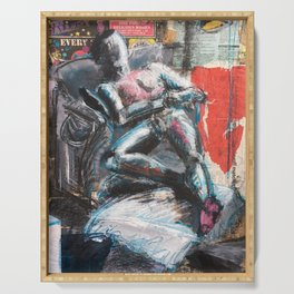 The Gallery mixed media figure drawing Serving Tray