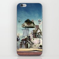 house iPhone & iPod Skins featuring house by Кaterina Кalinich
