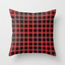 Coke Tartan Throw Pillow